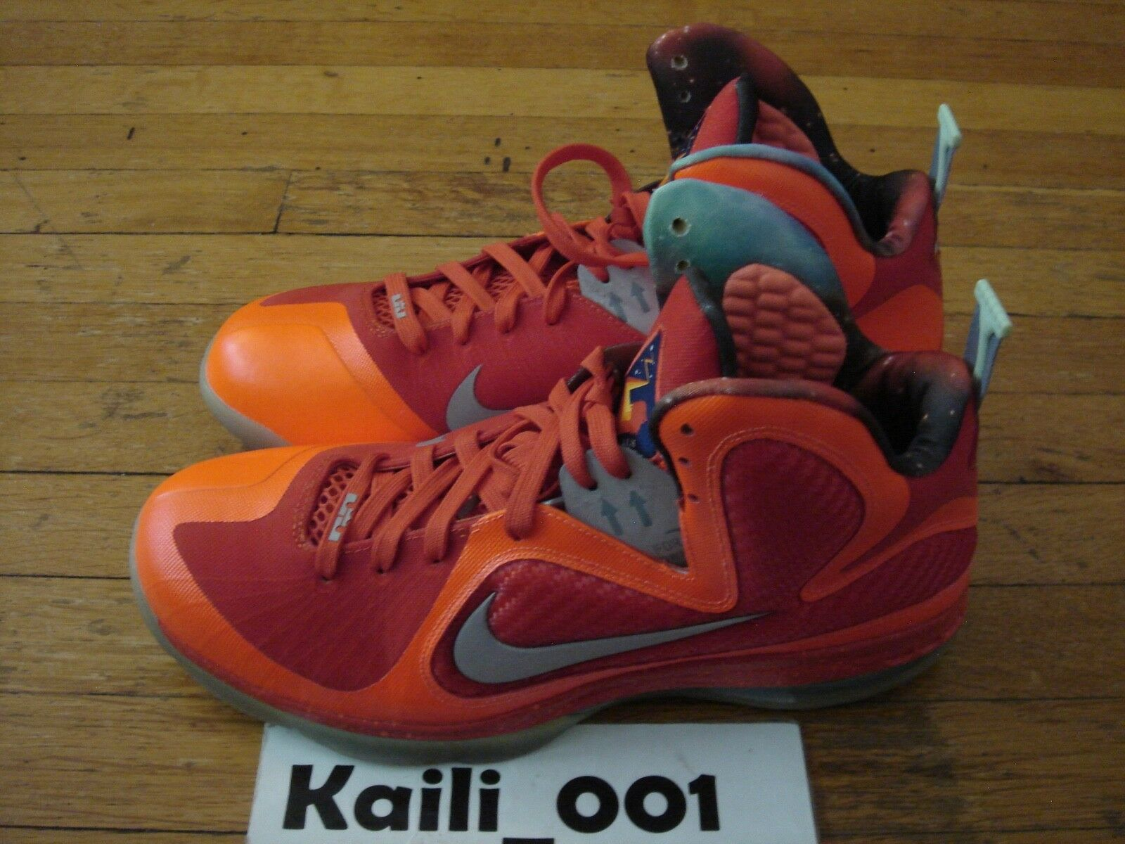 Nike Air Zoom Lebron 9 AS Galaxy Size 13 Worn All Star Used 520811-800 A
