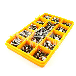 250-ASSORTED-A2-STAINLESS-STEEL-M2-5-SLOTTED-CSK-MACHINE-SCREWS-METRIC-BOLT-KIT