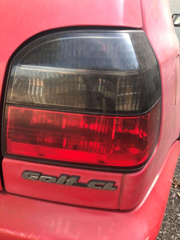 Lygter, VW Golf 3, årg. 1996