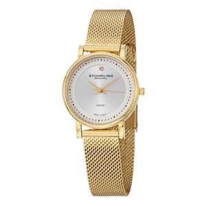 Stuhrling 734LM 04 Casatorra Elite Diamond Accent Mesh Bracelet Womens Watch