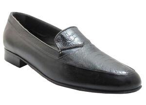 Italiaanse Loafer Heren In Slip Black Toe 9334 Struisvogel Moc Via Veneto Leg On trxdshQCB