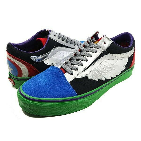 Vans Men's Shoe Marvel Old Skool Avengers Multicolor VN0A38G1U3V Men's Size 5~12