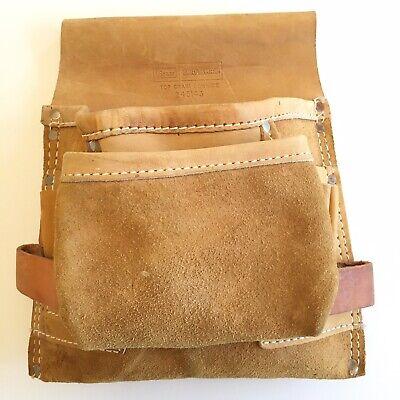Leather Tool Belt Hammer Ring Thick Leather Tool Belt Vintage Carpenters Belt Bag Tool Box Top Grain Cowhide
