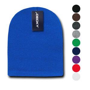 ce6ded5dede6aa 1 Dozen Decky Short Knitted Beanies Skull Ski Caps Hats Wholesale   eBay