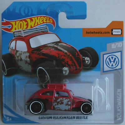 Hot Wheels 2019 Custom Volkswagen Beetle rot NEU /& OVP