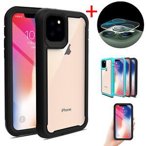 For-iPhone-11-Pro-Max-2019-Hybrid-Case-Rugged-Clear-Cover-Camera-Lens-Protector
