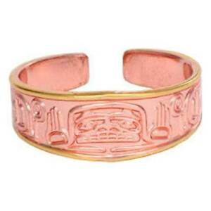 Solid-Copper-Ring-Hands-of-Creation-Totem-Northwest-Gold-Jewelry-Etched-Design
