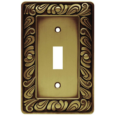 Brass Paisley Switch Plate Single Light Toggle Decorative Wall Cover Lightswitch Ebay