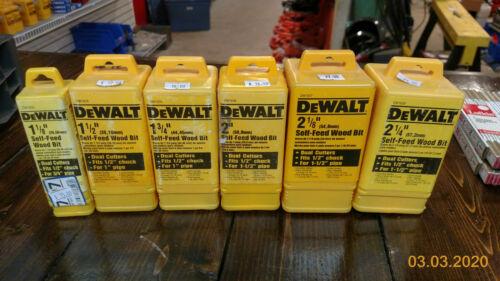 set of 6 DeWalt Self-feed wood bits