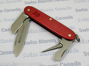 Swiss Bianco Exclusive Victorinox Electrician All Red Alox
