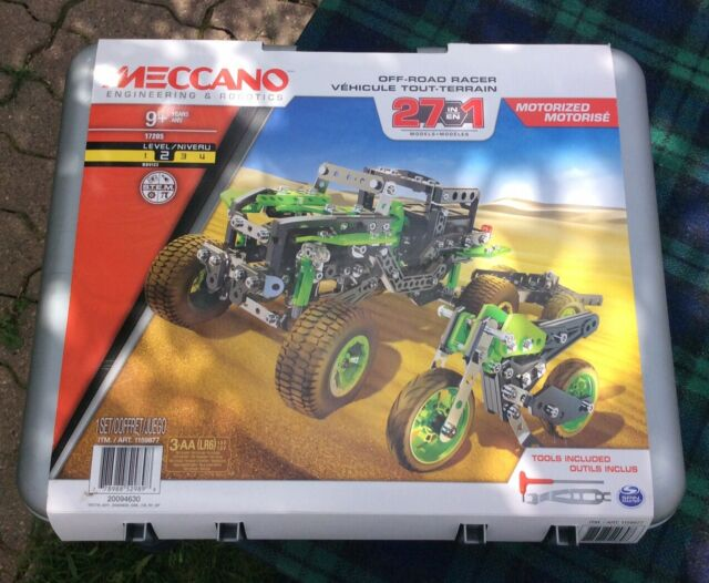 Meccano Engineering & Robotics Off-Road Racer 27 In 1 Motorized New D2