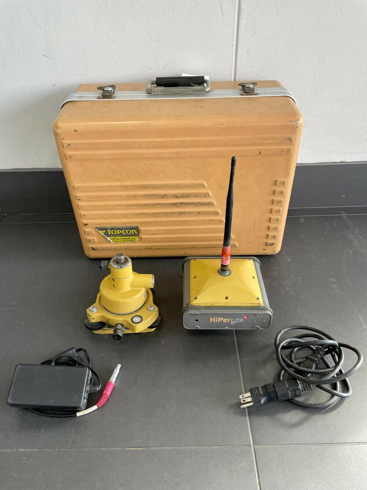 Topcon Hiper Lite Plus + GNSS GPS GLONASS Receiver P/N 01-840802-06 w/ extras