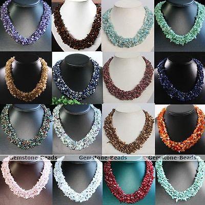 Gemstone Crystal Quartz Freeform Chips Beads Fashion Style Necklace Jewelry Gift