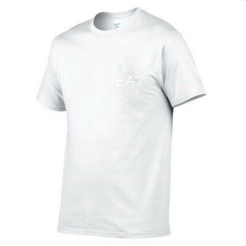 Men/'s T Shirt Chest Logo Print Sports Tops Summer Crew Neck Tee Blouse Jogging