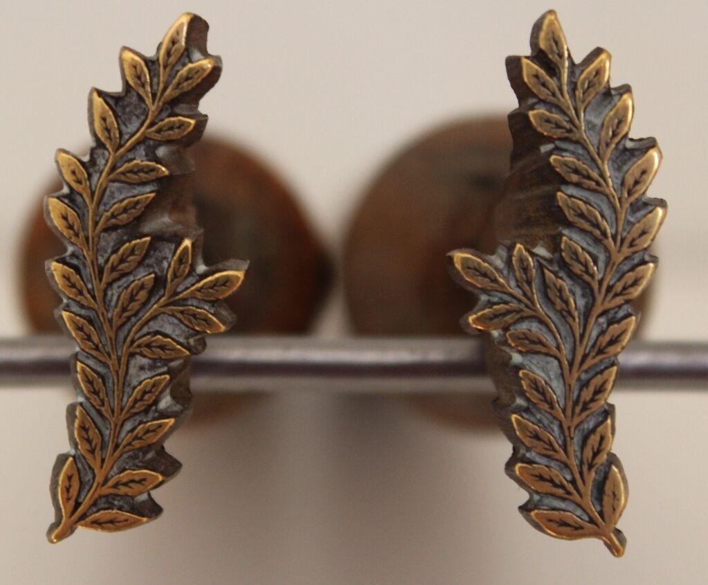 Paire Fanfare de Fers à Dorer Fleuron modèle Fanfare Paire XVIIe s. Bronze Reliure Dorure #32 be72f8