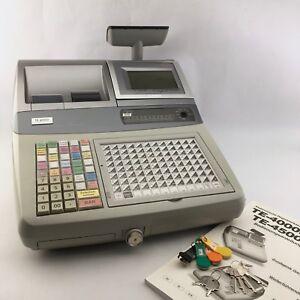 Casio-TE-4000F-1-Registrierkasse-inkl-Kundendisplay-und-Bondrucker-POS