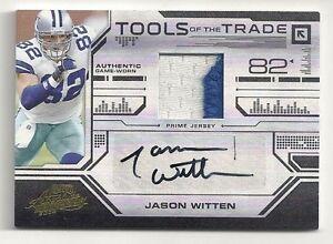 new product 12320 8d35c Details about jason witten auto #1/10 autograph 2 color patch E-bay 1/1  Dallas Cowboys Nr.Mint