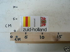 STICKER,DECAL ZUID-HOLLAND PROVINCIE A