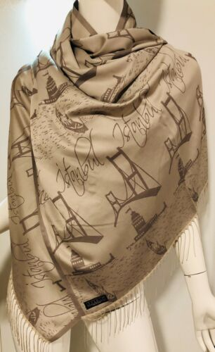 Turkish Shawls Top Quality Cashmere /& Cotton Blend Scarves Wraps Rectangular New