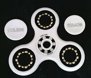 3 Bronze White Fidget Hand Spinner Toy with Center full Ceramic ZRO2 Bearing
