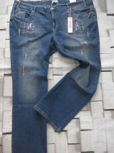 Sheego-Stretch-Jeans-Size-42-to-58-Maila-Blue-757-with-Sequins-New