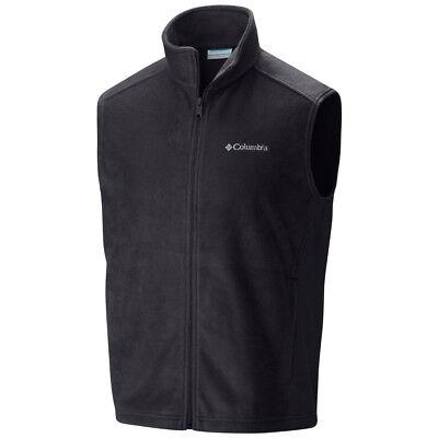 """New Mens Columbia """"Steens Mountain"""" Full Zip Fleece Vest"""