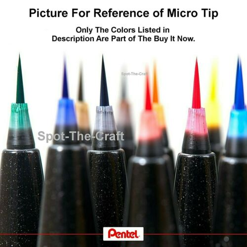 Pentel Arts Sign Pen Micro Brush 6 Fashion Colors Water Based Ink 27546