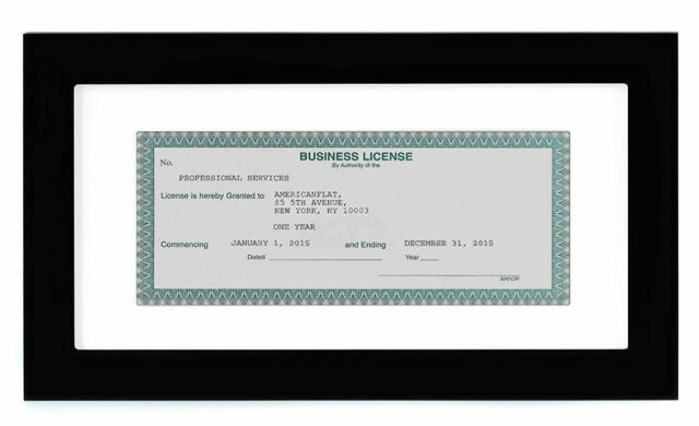 Americanflat Business License Frame Display Business Licenses 3 5x8 Inches For Sale Online Ebay