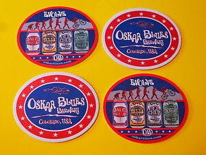 "4 Bière dessous de Verre Tapis ~ Oskar Blues "" Evolve "" Brewing Company~ Denver- KA2Ip5aB-09093954-135915455"