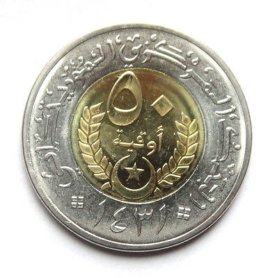 MAURITANIA SET OF 4 COINS BIMETAL UNC 5 10 20 50 OUGUIYA 2009 2010