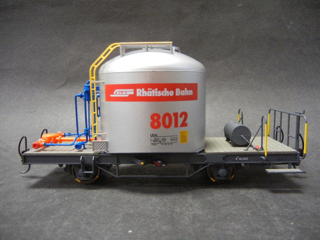 BEMO 9452 132 RHB UCE 8012 cemento carrello trasporto traccia 0m 22,2mm 1:45 Merce Nuova
