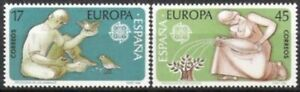 Espagne Nº 2726/27 ** L'europe, Cept 1986, Cachet-afficher Le Titre D'origine