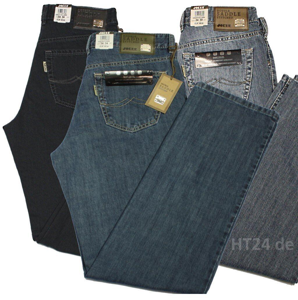 Joker Jeans Clark 2242 + 2320 colorei selezionabili w42 l34 Jeans Uomo