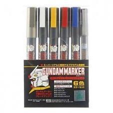 GSI Creos Gundam Marker Paint Pen Ams105 Basic Set 6 Markers