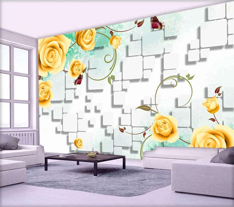 Hanging Yellow Peony 3D Full Wall Mural Photo Wallpaper Printing Home Kids Decor