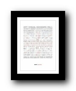 BLUR Country House  ❤  song lyrics typography poster art print