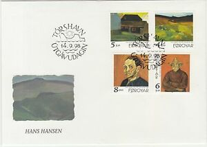 Faroe-Islands-1998-Paintings-by-Hans-Hansen-Village-Farmer-First-Day-Cover