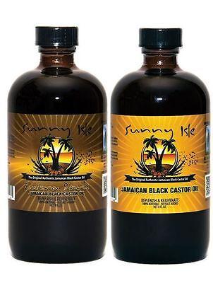 SUNNY ISLE BLACK CASTOR OIL FOR HAIR GROWTH & TREATMENT /HAIR CARE 2 SIZES