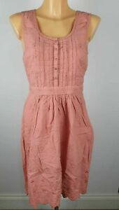 NEW-TU-Ladies-PINK-Floral-Embroidered-Sleeveless-Dress-Summer-Size-8-22