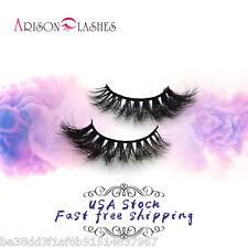 Arison Design 100% Real Mink Hair Cross Natural Short False Eyelashes 1 PairD011