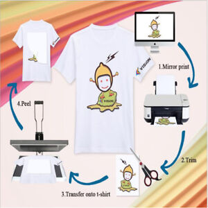 10SHEETS-A4-HEAT-TRANSFER-PAPER-IRON-ON-INKJET-PRINT-FOR-LIGHT-T-SHIRTS
