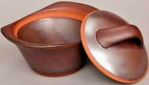 Cook-on-Clay-4-Quart-Casserole-Bordeaux-Glaze-Handmade-Flameware-Pot