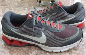 Nike Reax Run 9 Men's Gray Running Cross Training Shoes Size 13 #653617-005 EUC