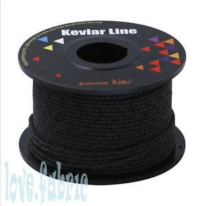 Black 100ft 500lb braided line kevlar compact survival for Kevlar fishing line