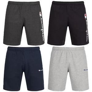 Champion-Herren-Essential-Logo-Sweat-Shorts-Fitness-Freizeit-Short-Fitness-Hose