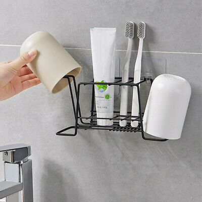 Metal Bathroom Toothbrush Toothpaste Cups Mug Holder Razor Stand Rack l | eBay