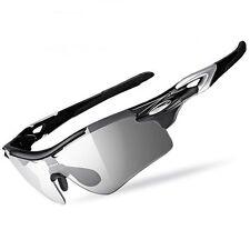 RockBros Bike Polarized PHOTOCHROMATIC Glasses Eyewear With Myopia Frame Black