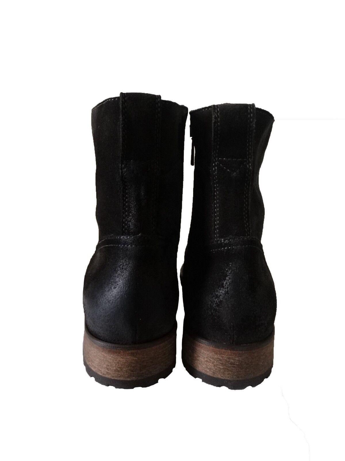 NIB Belstaff Attwell Chelsea Stivali Burnished Suede Dark Grey Grey Grey Size 9 M-US 138372