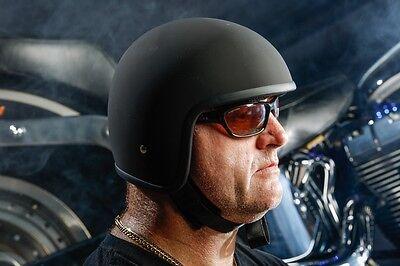 NEWEST X Rated Low Profile Skull Cap Open Face Novelty Crash Helmet Sizes XS-2XL