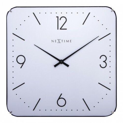 Boyle NeXtime Stylish Wall Indoor Clock Basic Square Dome White